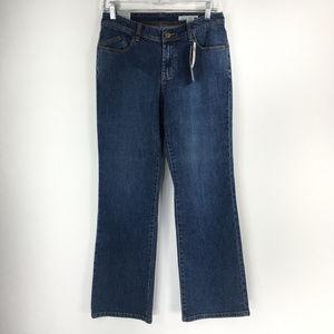 Chicos Platinum 0.5 Short (size 6) Bootcut Jeans